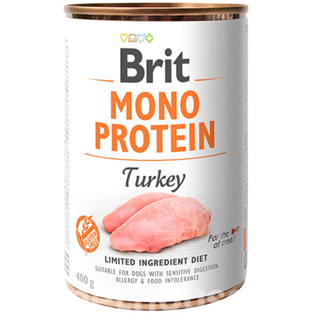 Brit (Брит) Mono Protein Turkey Консервы для собак с индейкой