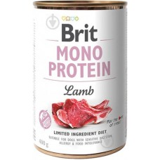 Консерва Brit Care Mono Protein з ягнятиною, 400г, для собак