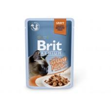 Brit Premium Филе индейки в соусе для кошек 85 g