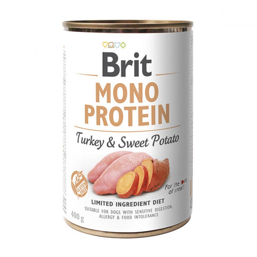 Корм для собак Brit Mono Protein Dog k с индейкой и бататом 400 г