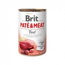Brit Pate & Meat Dog k 400 g для взрослых собак с говядиной