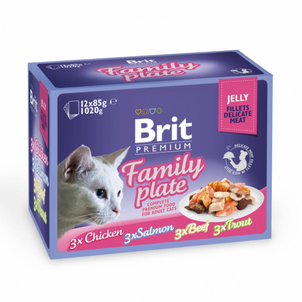 "Brit Premium Cat Family Plate Jelly Набор паучей д/кошек ""Семейная тарелка"" в желе"