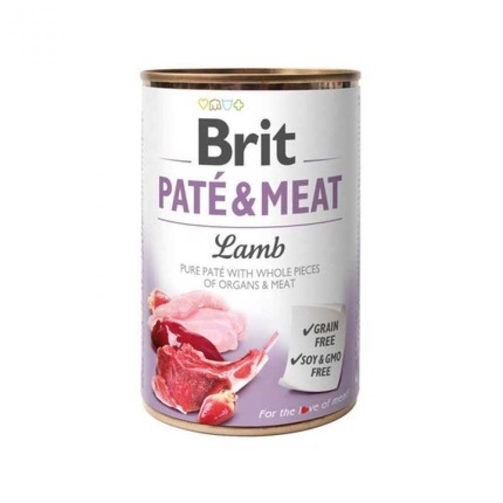 Влажный корм для собак Brit Pate & Meat Dog с ягненком