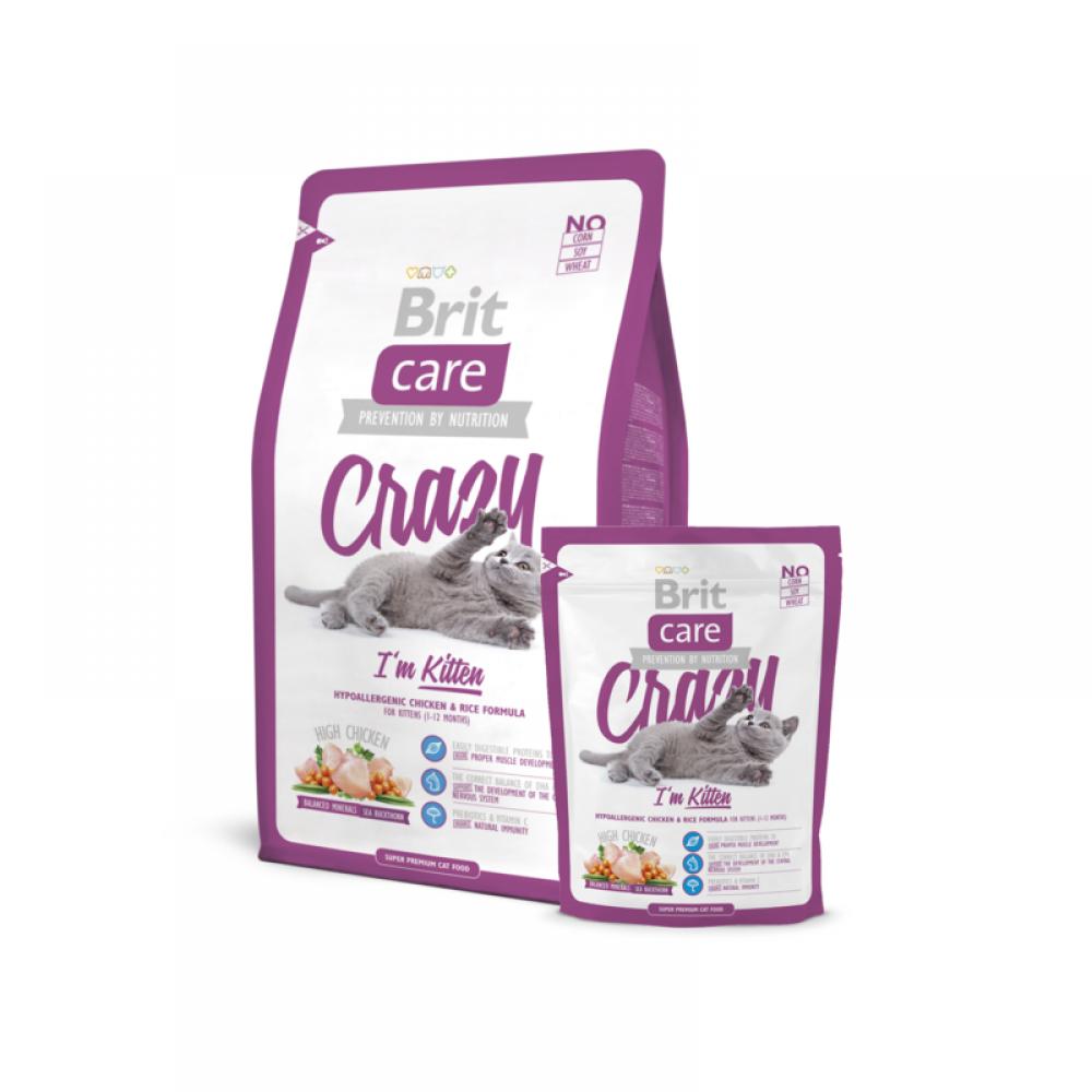 Сухой корм супер-премиум класса для котят до 12 мес Brit Care Cat Crazy Kitten