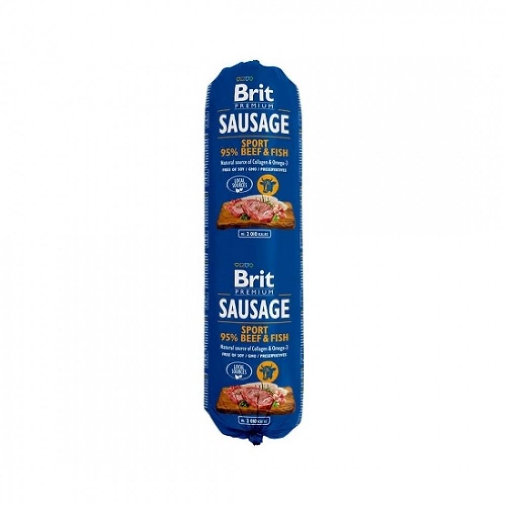 Brit Premium Dog Sausage 800g колбаса с говядиной и рыбой для активных собак