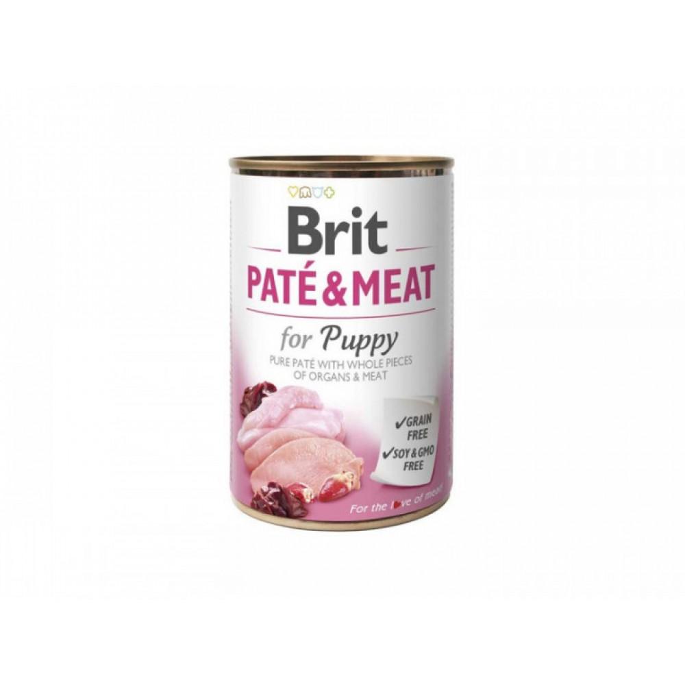 Консервы для собак: Brit Paté & Meat Puppy 400 g chicken & turkey