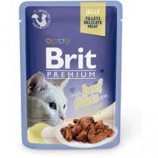 Корм для котов Brit Premium Cat pouch Филе говядины в желе 85 g