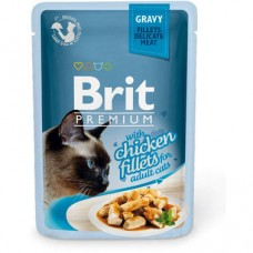 Влажный корм для кошек с филе курицы в соусе Brit Premium Cat pouch 85 г