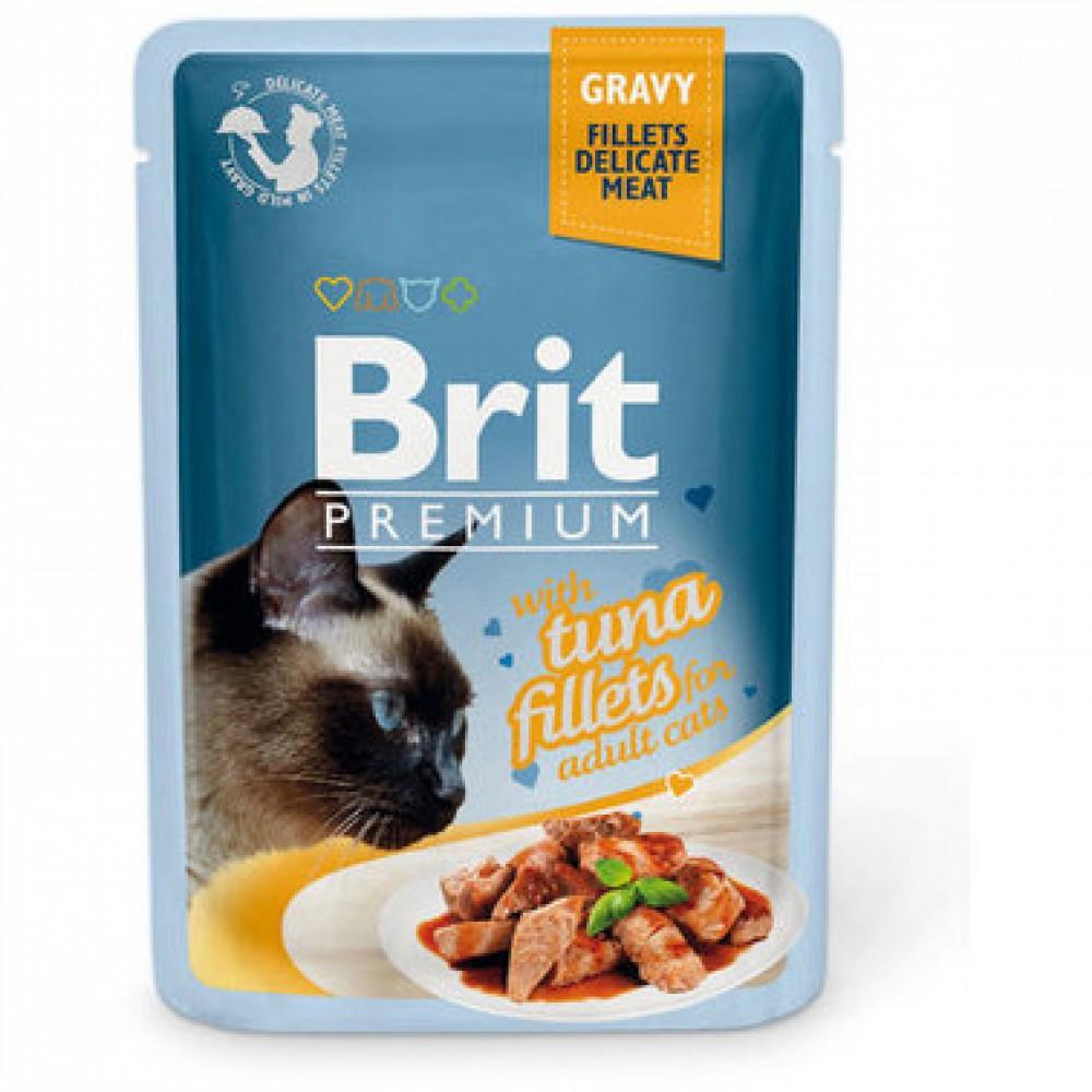 Brit Premium Pouch Кусочки из филе тунца в соусе 85 g