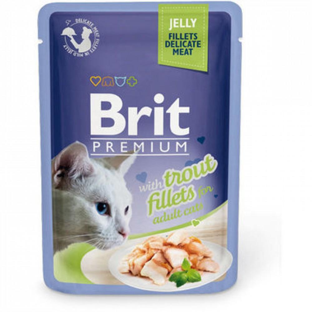 Brit Premium Pouch Кусочки из филе форели в желе