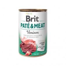 Брит Пате Паштет Brit Paté & Meat Dog k 400 g venison с олениной