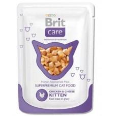 Brit Care Cat (пауч) Кусочки в соусе с КУРИЦЕЙ и СЫРОМ для котят