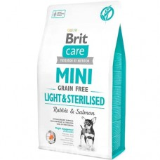 Brit Care (Брит Кеа) MINI Grain Free Light & Sterilised корм для собак мини пород (контроль веса)