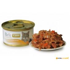 Консервы для котов Brit Care Cat k тунец/морковь/горох