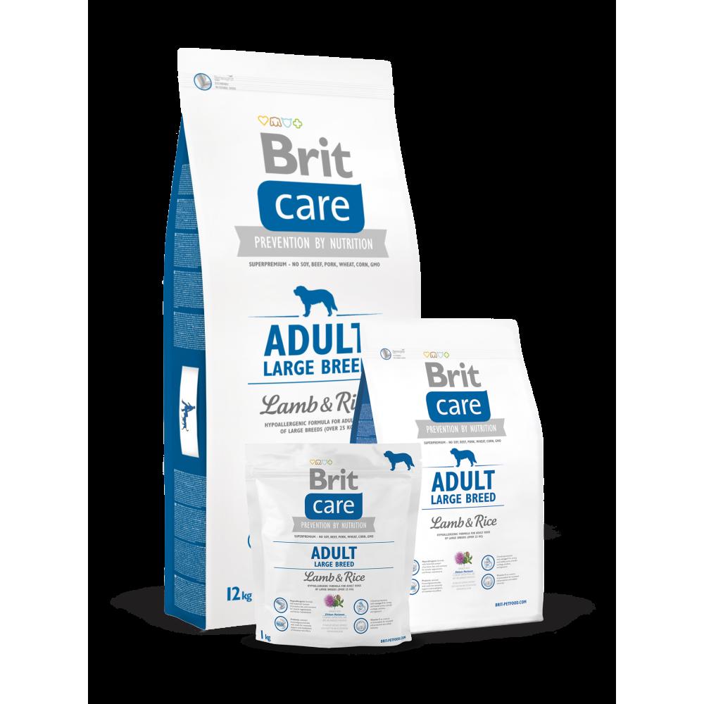 Сухой корм для взрослых собак крупных пород Brit Care Adult Large Breed Lamb & Rice