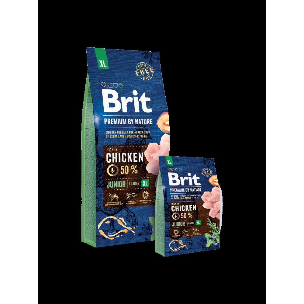 Сухой корм Brit Premium Dog Junior XL для щенков и молодых собак гигантских пород со вкусом курицы
