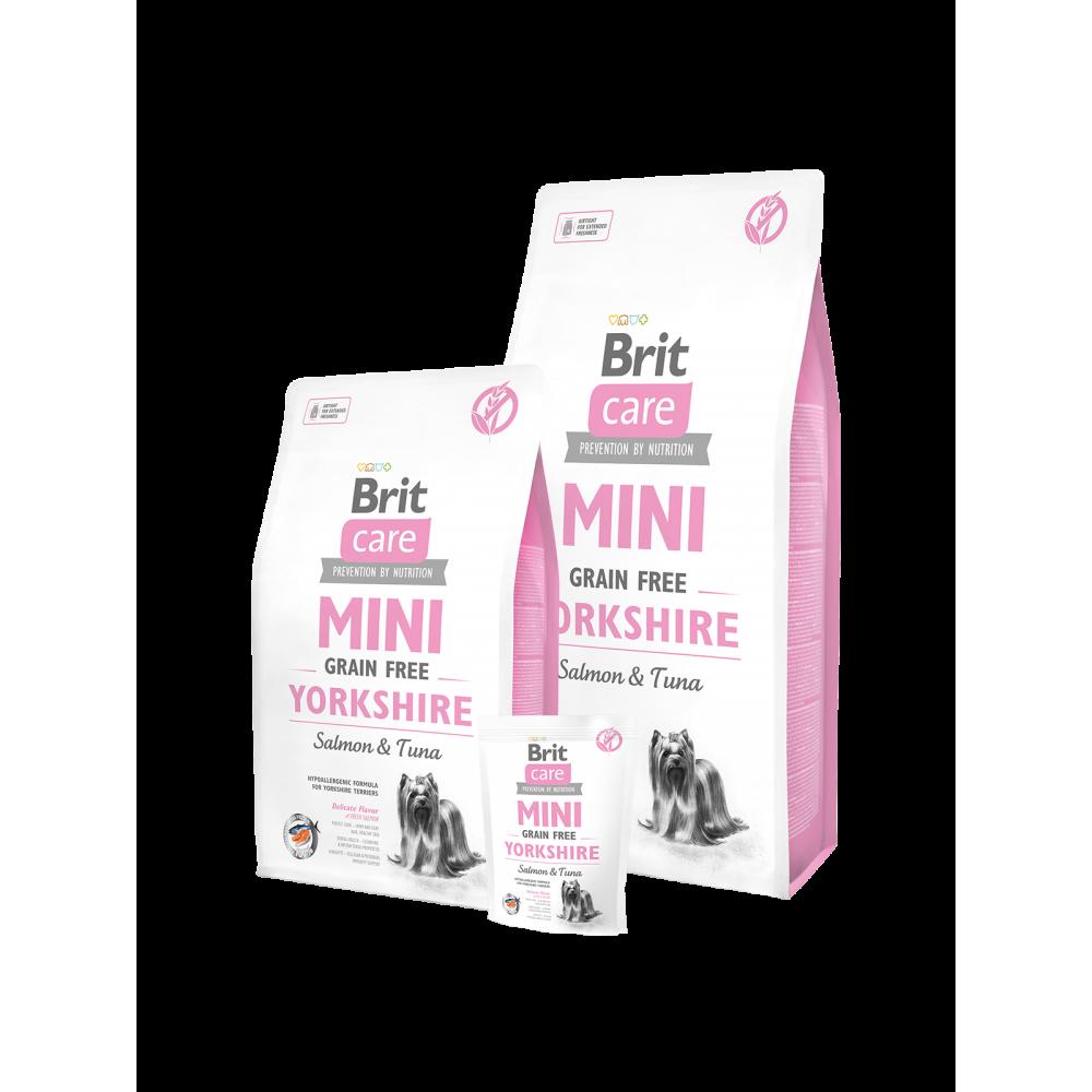 Сухой корм для взрослых собак породы йоркширский терьер Brit Care Sensitive Grain Free Yorkshire