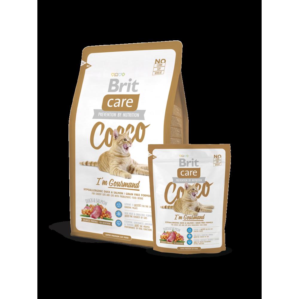 Brit Care (Брит Кеа) Cocco Gourmand Гипоаллергенный корм для кошек с уткой и лососем