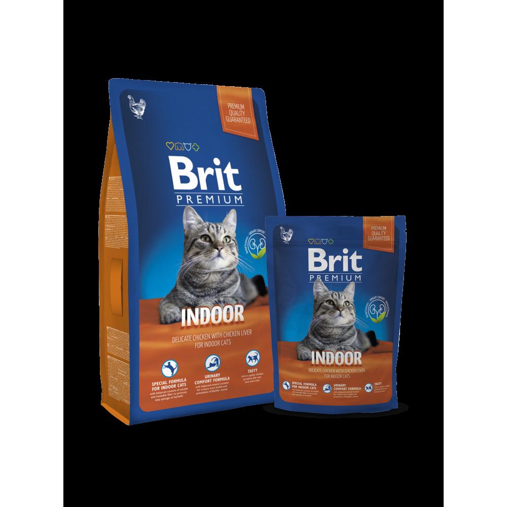 Сухой корм для котов и кошек Brit Premium Cat Indoor для живущих в помещении