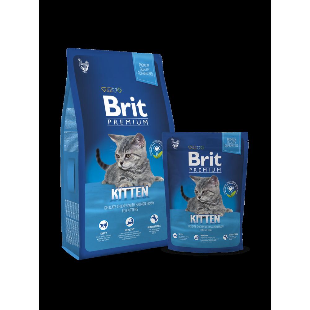 Сухой корм для котят с курицей Brit Premium Adult Kitten