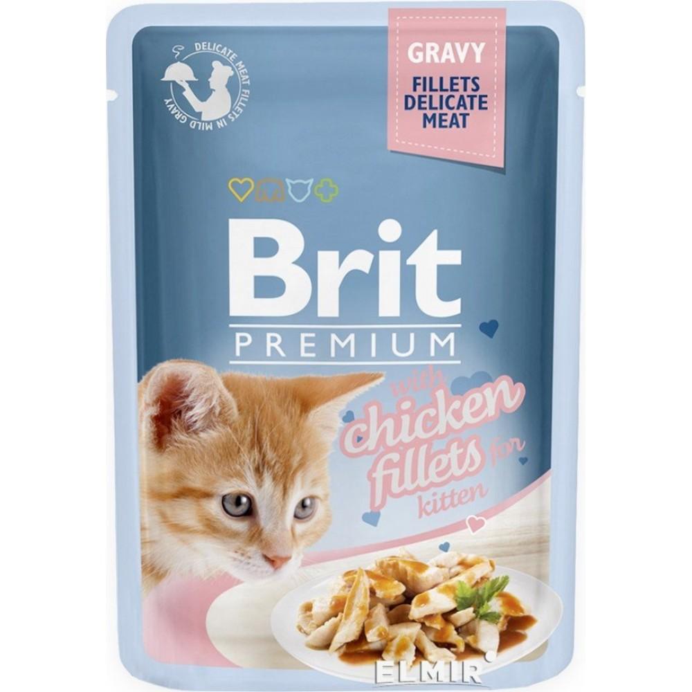 Корм для котят Brit Premium Cat pouch Филе курицы в соусе 85 g