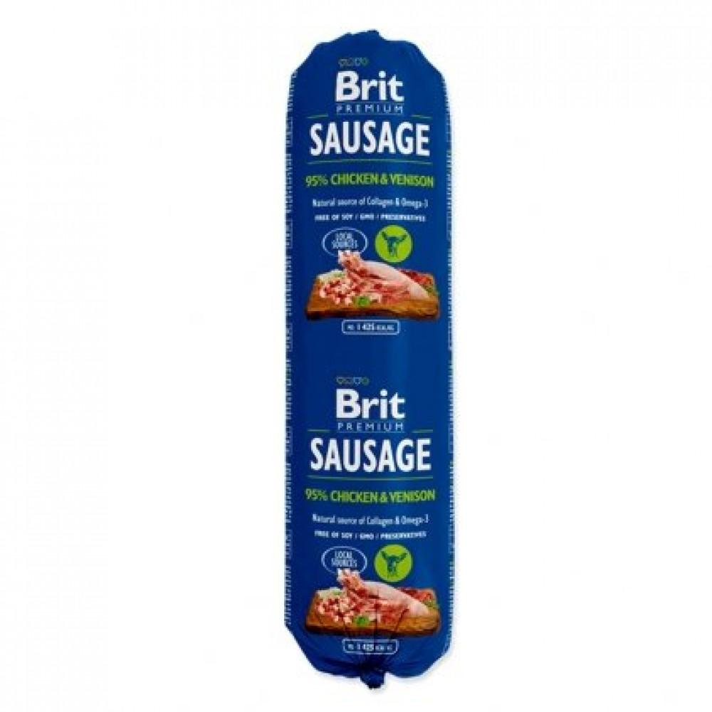Brit Premium Dog Sausage 800g колбаса с курицей и олениной