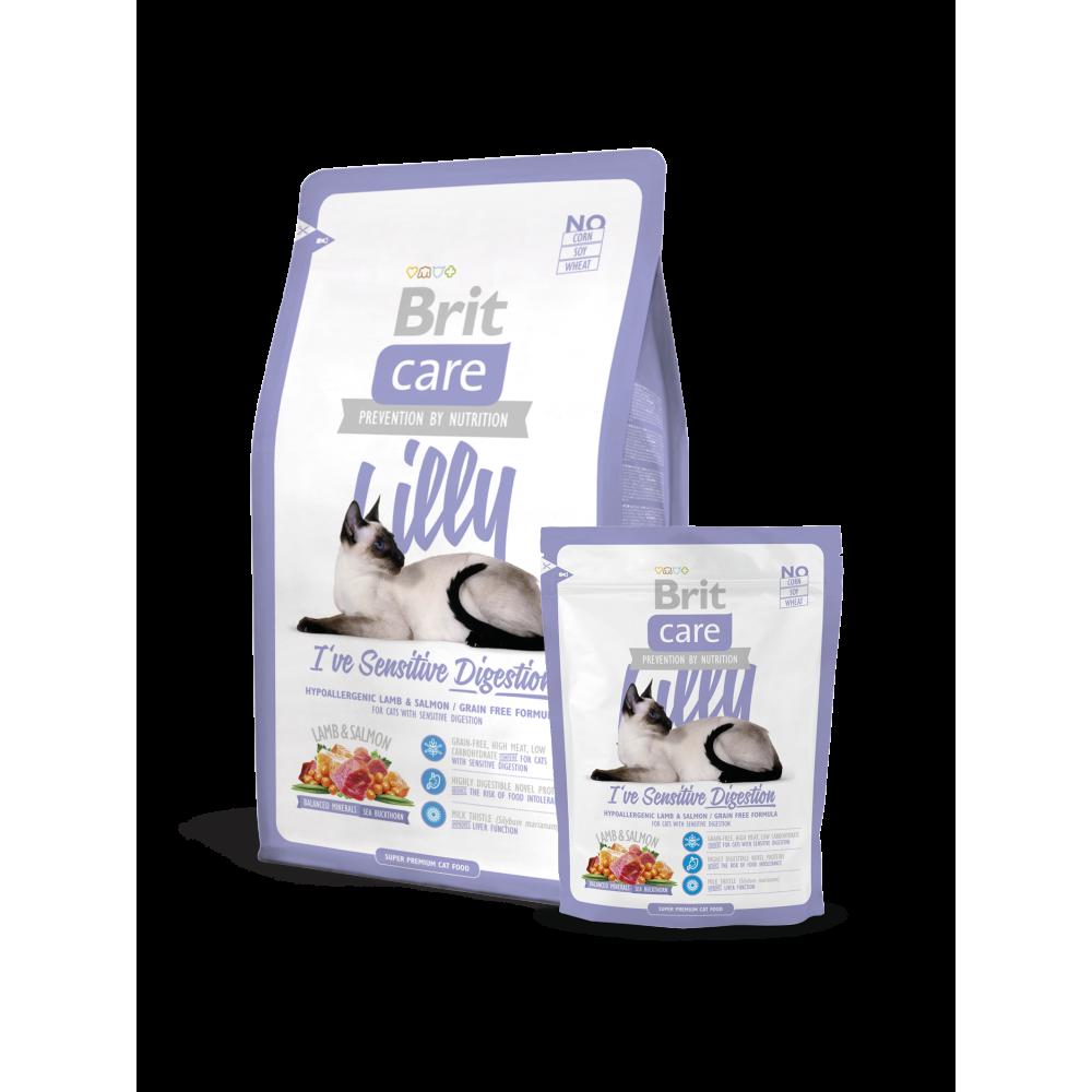 Корм для котов и кошек Brit Care Cat Lilly I have Sensitive Digestion для животных с чувствительным пищеварением