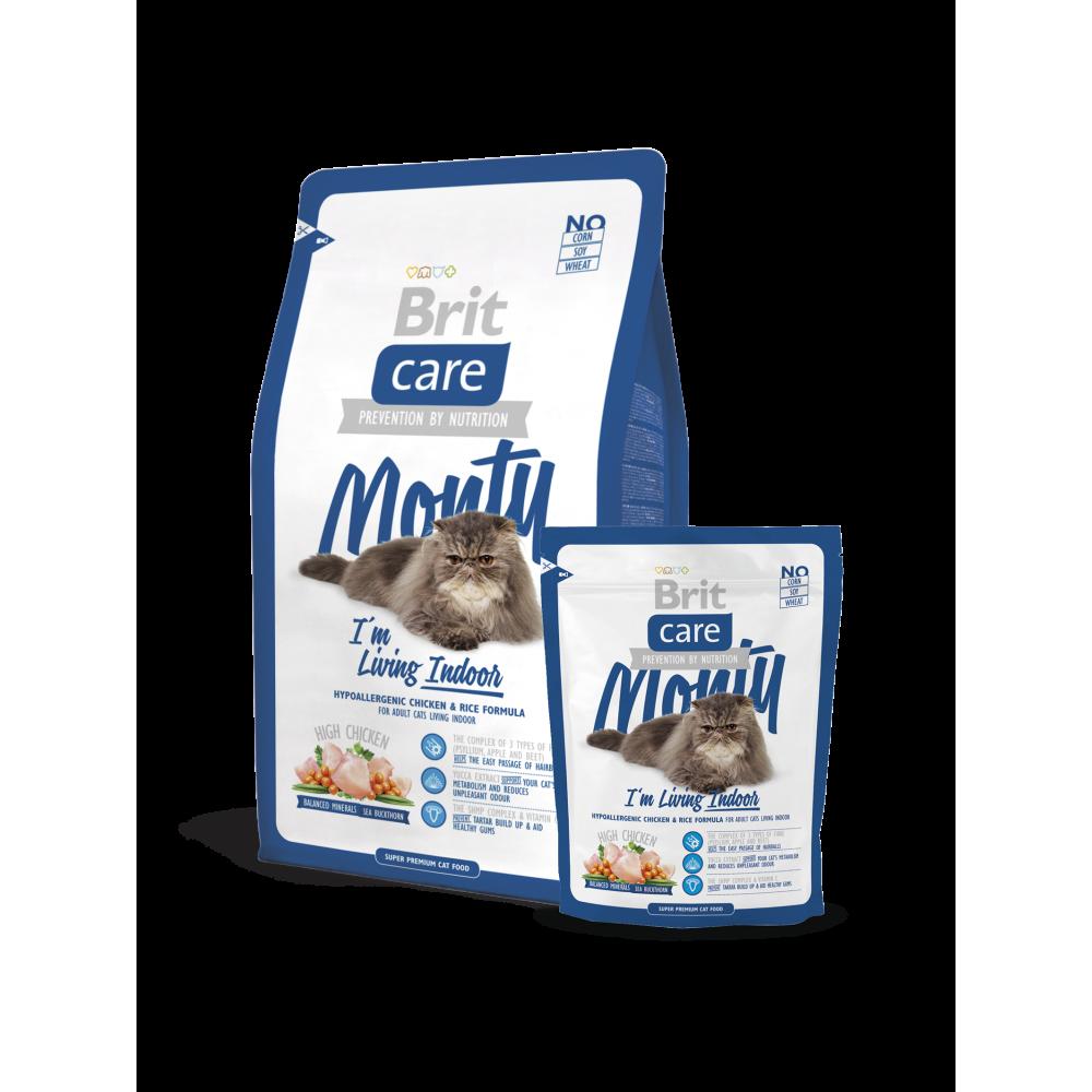 Сухой корм для кошек живущих в помещении Brit Care Monty I am Living Indoor