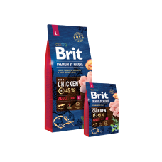 Сухой корм Brit Premium Adult L для взрослых собак крупных пород со вкусом курицы