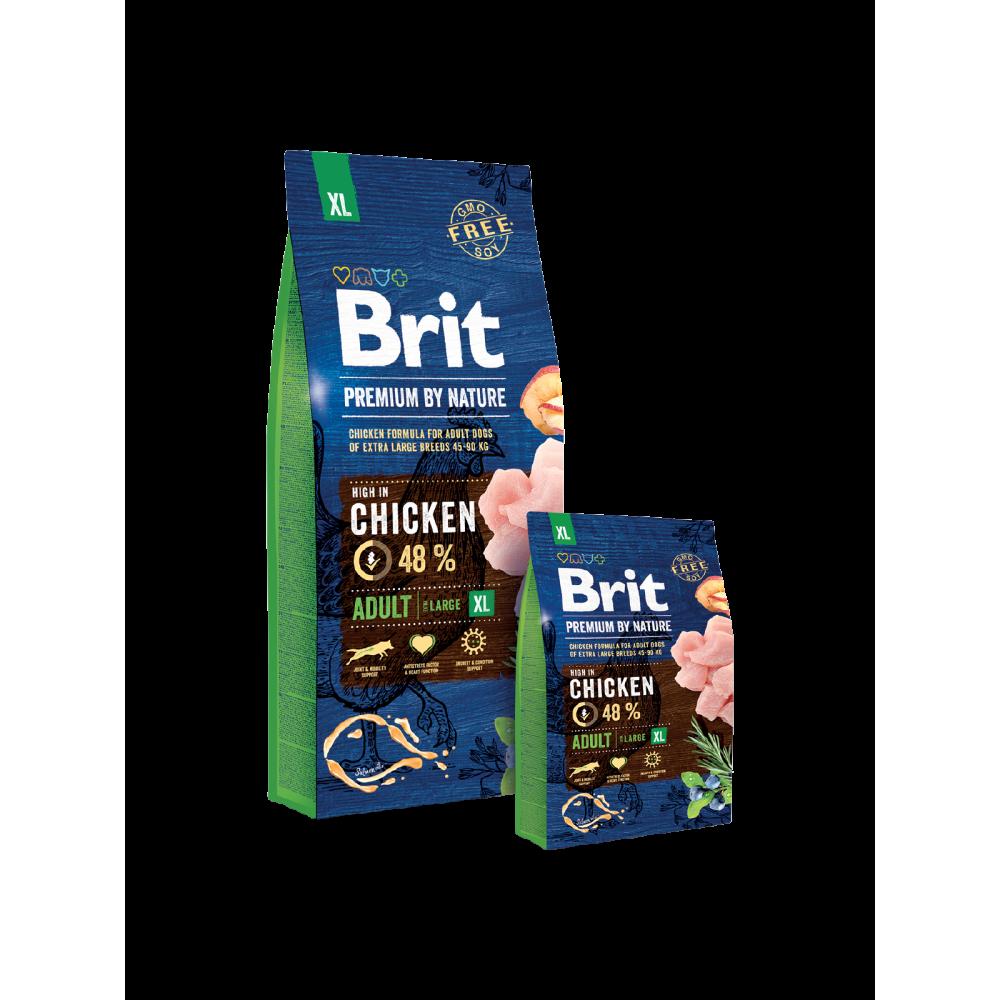 Сухой корм Brit Premium Dog Adult XL для взрослых собак гигантских пород со вкусом курицы