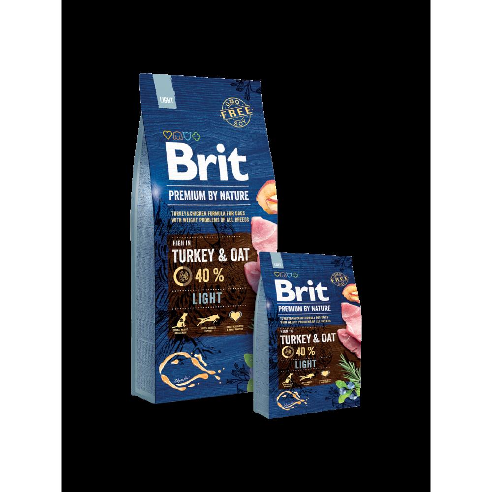 Сухой корм Brit Premium Light для собак с избыточным весом со вкусом индейки