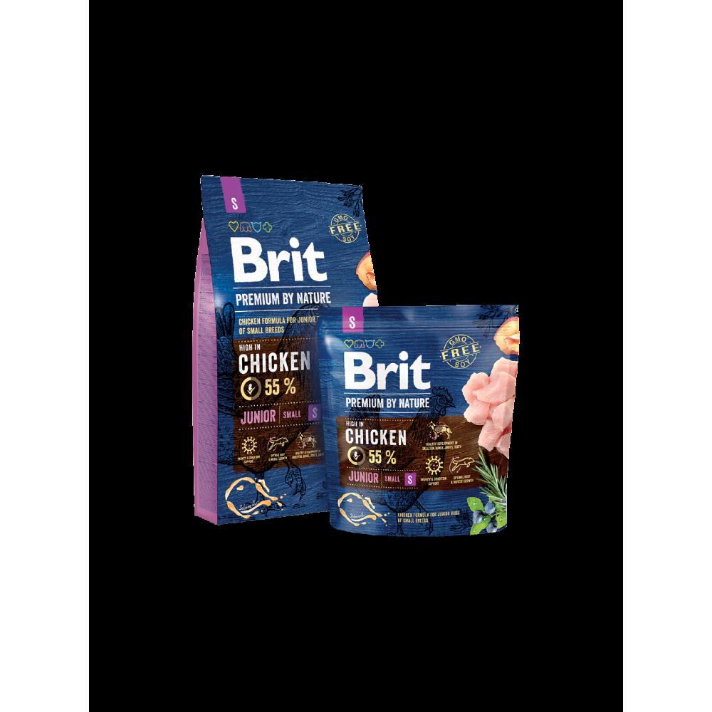 Сухой корм Brit Premium Junior S для щенков и молодых собак мелких пород (весом до 10 кг)