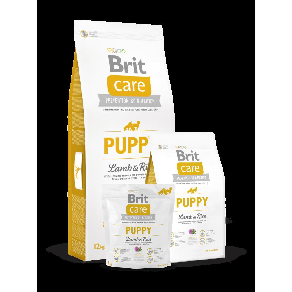 Сухой корм для щенков всех пород Brit Care Puppy All Breed Lamb & Rice