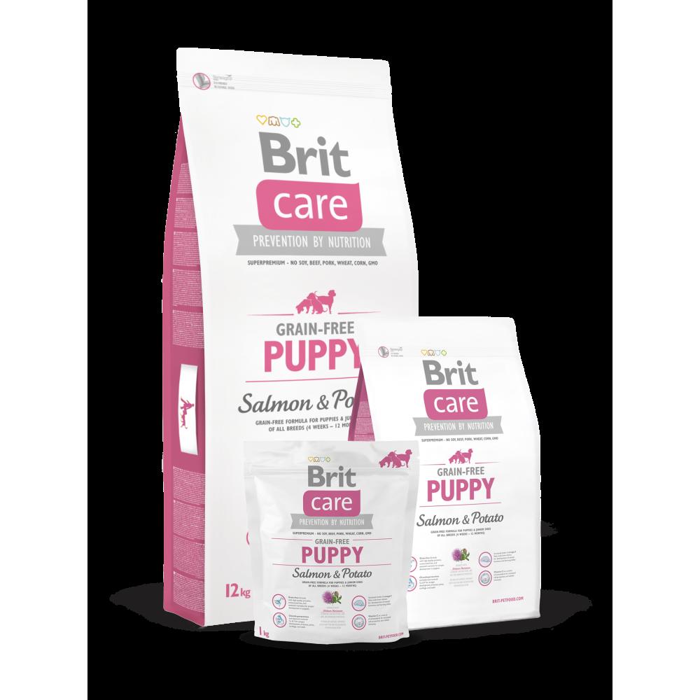 Сухой корм для щенков Brit Care GF Puppy Salmon & Potato