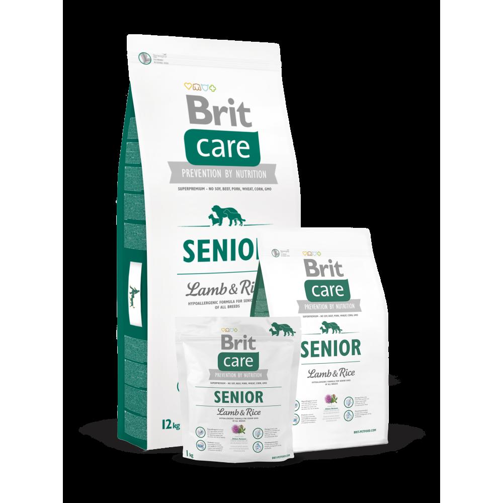 Сухой корм для пожилых собак всех пород Brit Care Senior All Breed Lamb & Rice