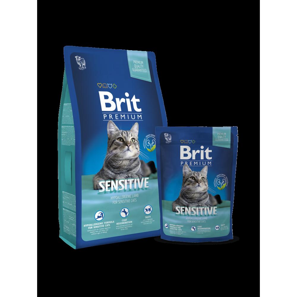 Корм для котов и кошек Brit Premium Cat Sensitive для животных с чувствительным пищеварением