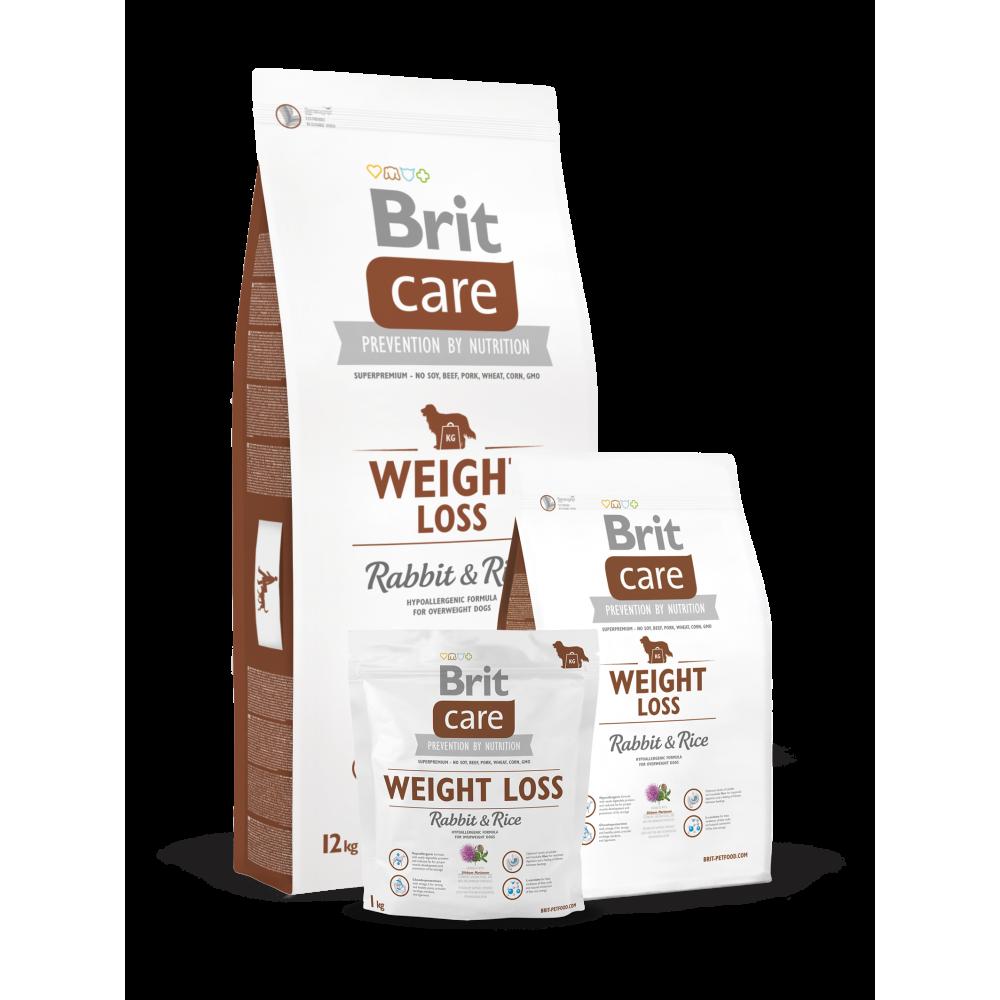 Сухой корм для собак с лишним весом Brit Care Weight Loss Rabbit & Rice