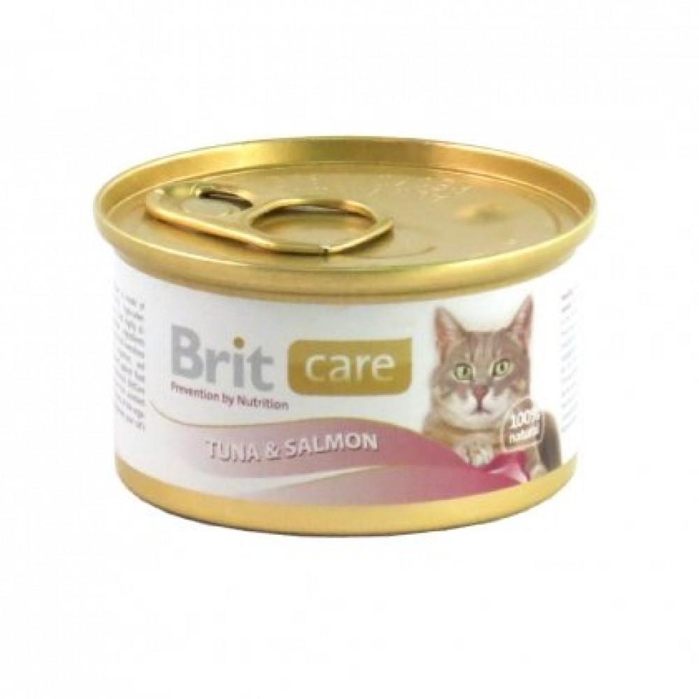 Brit Care Tuna & Salmon Консервы для кошек с тунцом и лососем в соусе