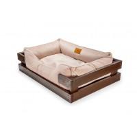 Лежак Dreamer  Velur Brown + Pudra