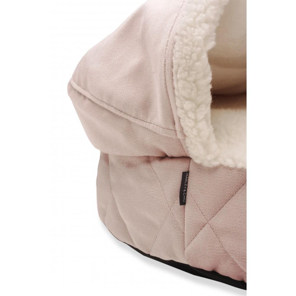 Лежак с капюшоном Cover Pudra Velur