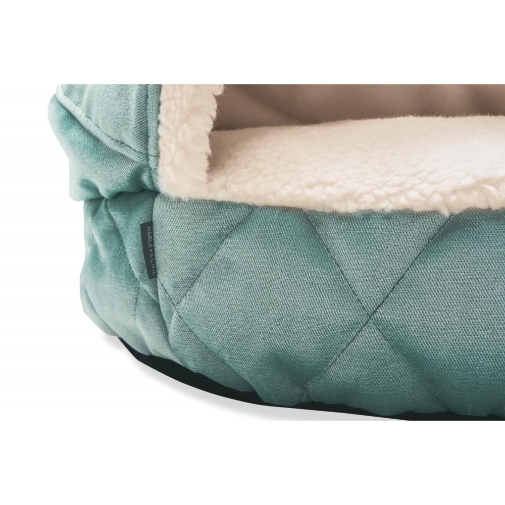 Лежак с капюшоном Cover Tiffany Velur