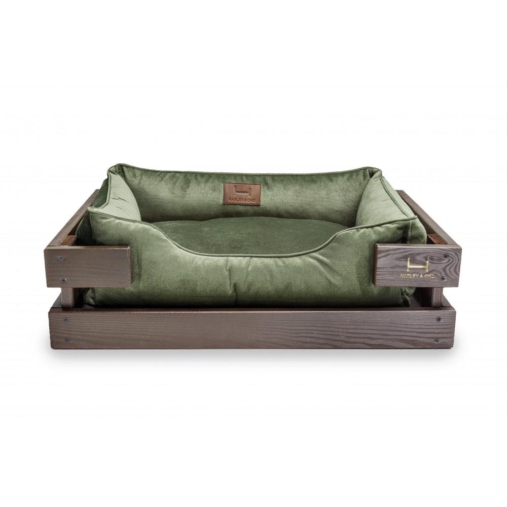 лежак Dreamer  Velur Brown + Green