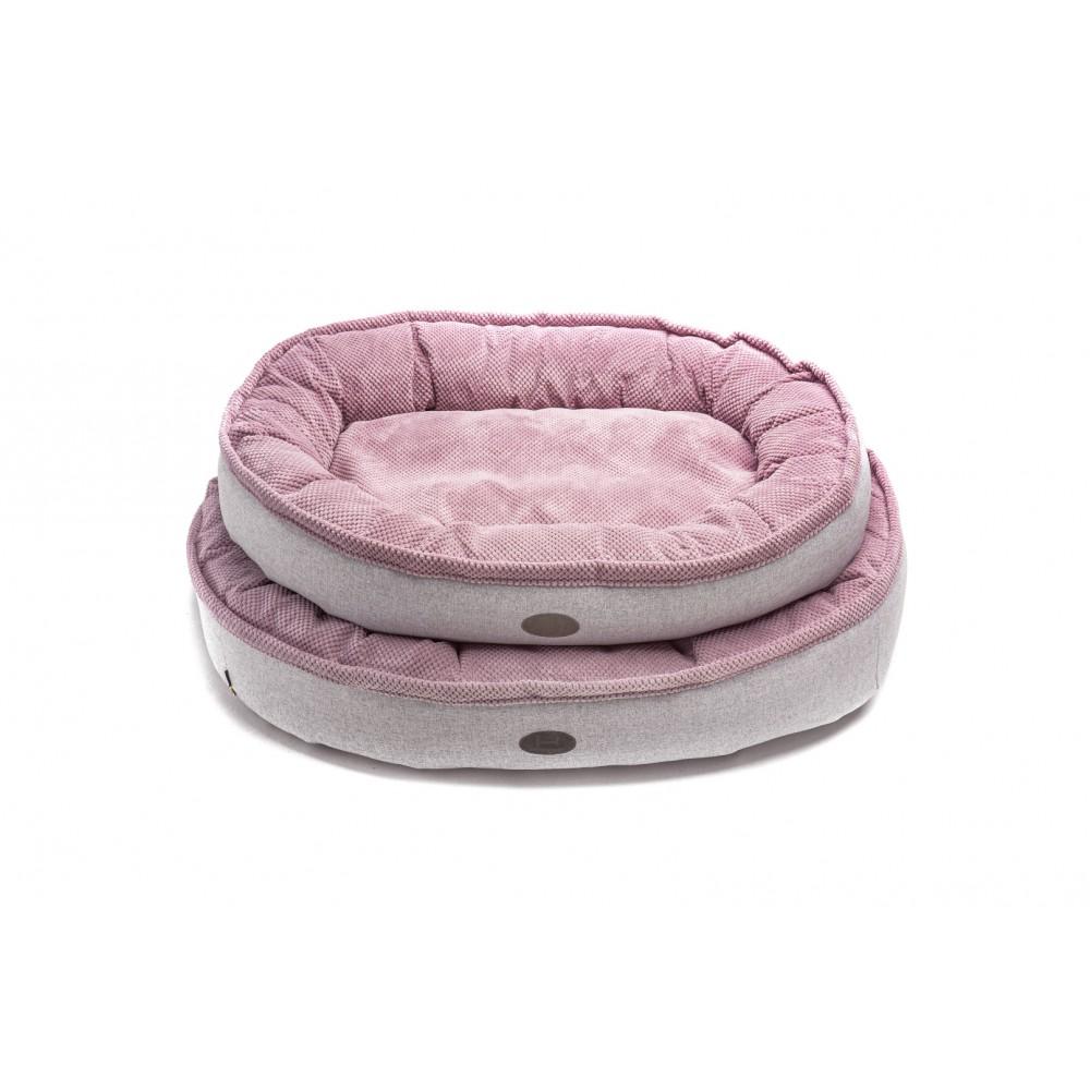 Овальный лежак Donut Soft Touch Pink