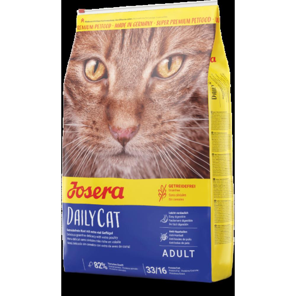 Сухой корм Josera DailyCat беззерновой для взрослых кошек с чувствительным пищеварением