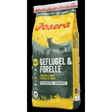 Сухой корм Josera Geflugel & Forelle для взрослых собак
