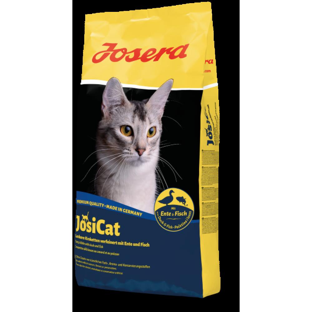 Сухой корм Josera JosiCat Ente & Fisch для взрослых кошек c уткой и рыбой 10 кг