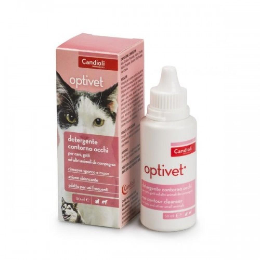 Кандиоли Оптивет (Candioli Optivet) лосьон  для ухода за глазами для котов и собак, 50 мл