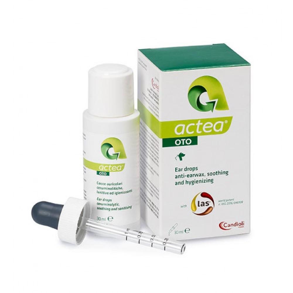 Кандиоли Актео Ото (Candioli Actea Оto) капли  для лечения отитов у кошек и собак 30 мл