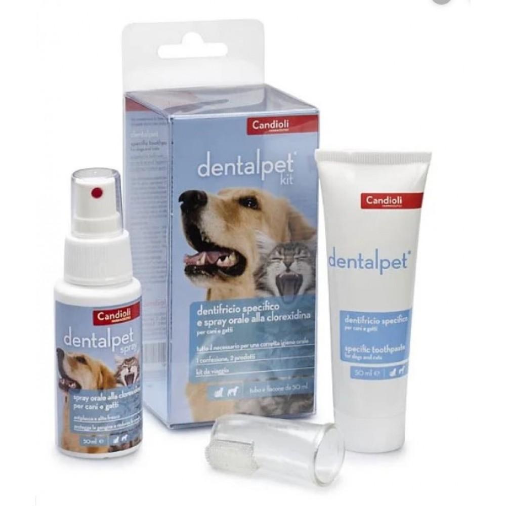 Кандиоли ДенталПет Кит Candioli DentalPet Kit дорожный набор для ухода за ротовой полостью