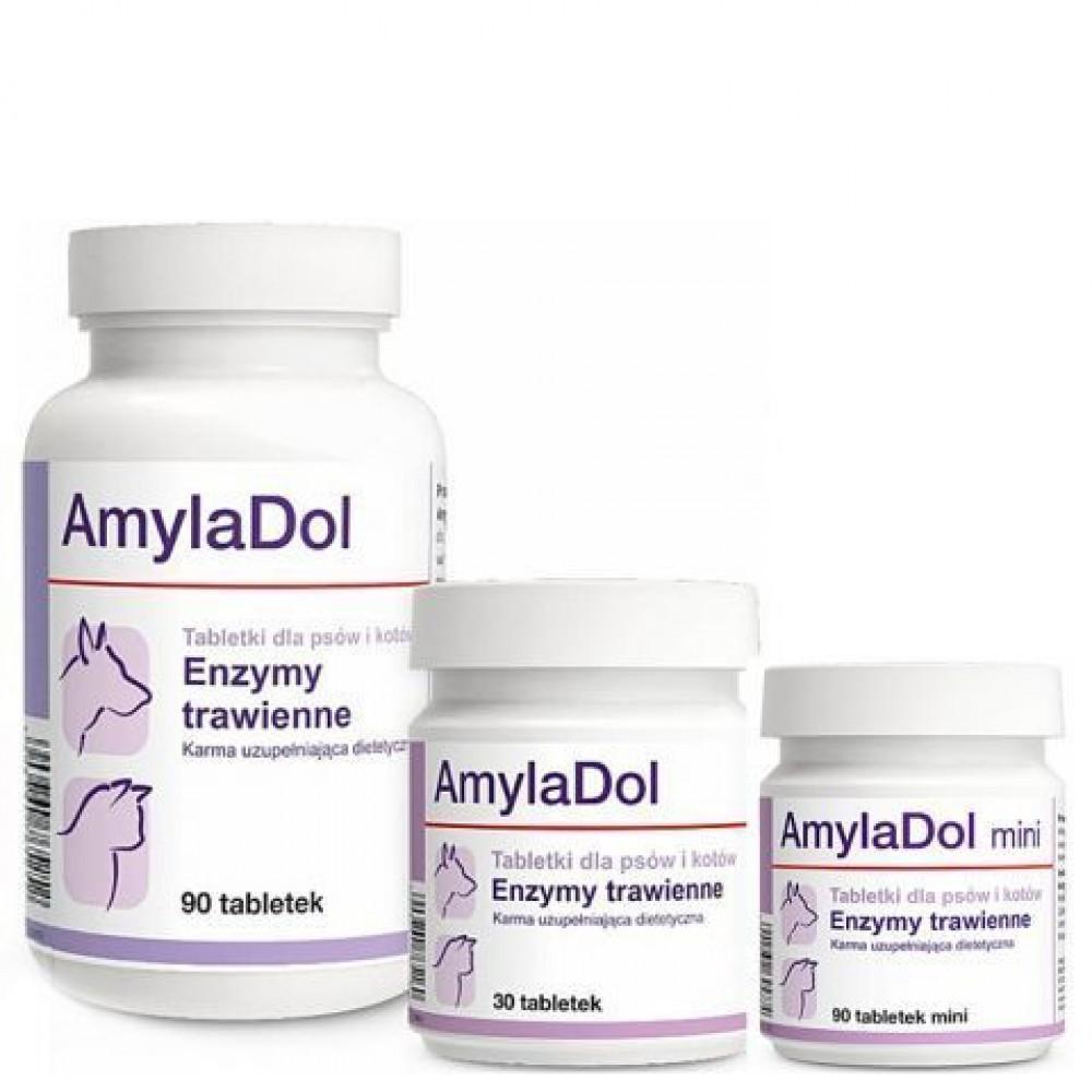 Долфос Амиладол  (Dolfos AmylaDol) для улучшения пищеварения у собак и кошек, 30 таблеток